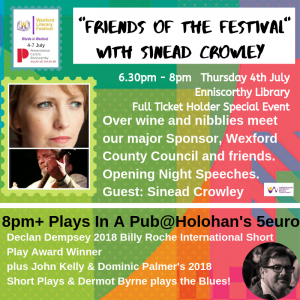 Readers & Writers events - Wexford Literary Festival